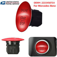 2215450514 For Mercedes-Benz Engine Keyless Start&Stop Push Button Switch Red-US