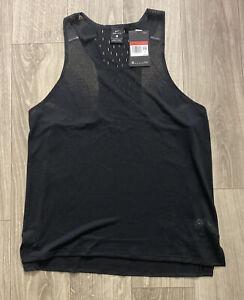 Nike Running Division Adapt Black Running Singlet (CU5542-010) Men's Size L