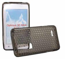 Silikon Case für LG P720 Optimus 3D Max in transparent schwarz Silicon Skin Bag