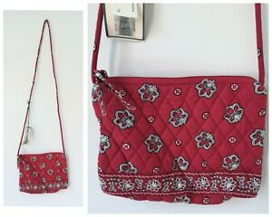Vera Bradley red bandana quilted cotton shoulder cross body purse Bag Small NWT