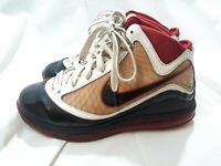 2009 NIKE AIR MAX LEBRON VII 7 RED WHITE BLACK RED 375793 101 Size 6Y !