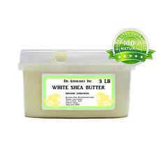 Premium High Quality White Shea Butter Unrefined Raw Pure & Organic 48 oz/3 lb