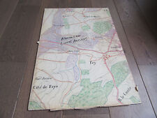 GRAND PLAN MANUSCRIT 1890 FEY MOSELLE