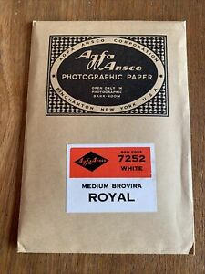 Sealed Agfa Ansco Photographic Paper 12 Sheets 4x6 Medium Brovira Royal White