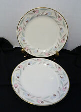Dinner Plates Nantucket Eggshell Nautilus Homer Laughlin Gold Trim Lot of  2 USA