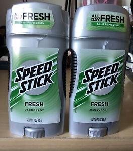 Speed Stick Fresh Deodorant All Day Fresh 24 Hr 3 oz New Lot of 2