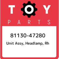 81130-47280 Toyota Unit assy, headlamp, rh 8113047280, New Genuine OEM Part