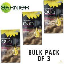 3x GARNIER Olia Permanent Hair Colour 7.13 Beige Dark Blonde Ammonia Free