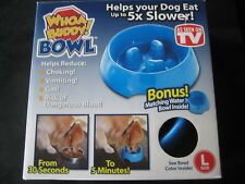 WHOA BUDDY! Bowl Blue Size L Dog Food/water bowl  NEW!