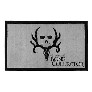 Bone Collector Black Bath Mat Skid Resistant Deer Antler Logo Michael Waddell