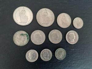 Lot monnaies Suisses