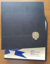 COLLEZIONE SAN MARINO DAL 1998 AL 2001 ALBUM E FOGLI BOLLI ** OTT. STATO