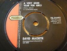 "DAVID MACBETH - A VERY GOOD YEAR FOR GIRLS  7"" VINYL"