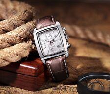 Megir Rectangle Chronograph 3ATM Multi-function Luxury Quartz gents Watch 2028