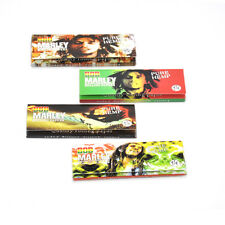 5 X BOB 78*44MM 11/4 32leaves Natural Unrefined White/HEMP ROLLING PAPERS