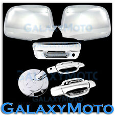 05-12 Chevy Colorado+Canyon Chrome Mirror+2 Door+NO KH+Tailgate Handle+Gas Cover