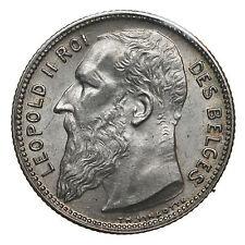 1 franc 1904 FR Leopold II Belgium AU/UNC SUP/FDC