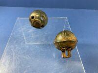 2- Vintage Brass Sleigh Bells