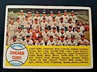 1958 Topps # 327 CHICAGO CUBS VG, ERNIE BANKS, Jim Brosnan, vintage BASEBALL