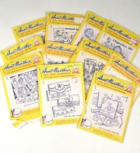 Aunt Martha's Vintage Hot Iron Pattern Transfers Craft Needlepoint Embroidery