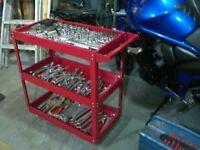 Tool Trolley Roll Storage Motorcycle Box Cab Portable Mobile Workshop Mechanics