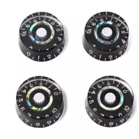 4PCS LP SG Electric Guitar Knobs Tone & Volume Control Knobs Black and Pearloid