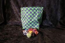 DADO QUADRATO VERDE Borsa Viola Check-Tile Sacchetto-D&D RPG Giochi Regali per i giocatori