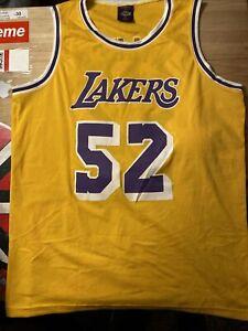 Los Angeles Lakers Jamal Wilkes #52 Retirement Ceremony SGA Links Jersey Size XL
