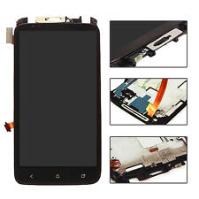Black LCD Display Touch Screen Digitizer Assembly  + Frame For HTC ONE X AT&T