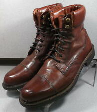 301122 TESBT50 Men's Shoes Size 10 M Dark Tan Leather Lace Up Boots  H.S. Trask