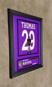 Baltimore Ravens Earl Thomas Framed 8x10 Jersey Photo