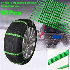 Nylon Snow Tire Chain x 10 Car Truck SUV Winter Emergency Anti-Skid Upgraded