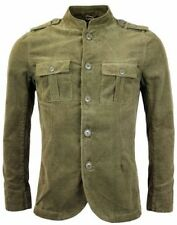 MANDARIN COLLAR CORD MILITARY JACKET Liam Gallagher Exactly Same As Pretty Green