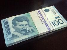 SERBIA Nikola Tesla 100 dinars banknote UNC 2013