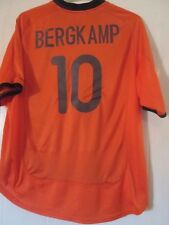 Holanda 2000-2002 Bergkamp #10 Hogar Camiseta De Fútbol Talla XL/41957