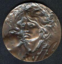 ORPHEUS - Medaille von M. Coudray - schöner Jugendstil - Musikpreismedaille!
