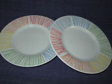 Gibson Annika Multicolor Stripe BREAD PLATE or SAUCER (s) set of TWO DISHES
