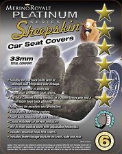 Sheepskin( Lambswool) Car Seat Covers 33mm , Seat Air bag Compatable, 5 Colours