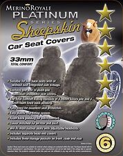 Merino Royale Platinum Range Sheepskin Car Seat Covers 33 mm TC, airbag safe.