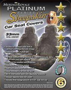 Merino Royale Platinum Range Sheepskin ( Lambswool ) Car Seat Covers 33 mm TC.