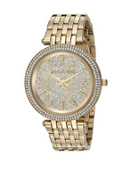 New Michael Kors Darci Gold Pave Crystal Stainless Steel MK3438 Women's Watch