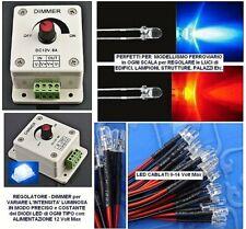 Dimmer Regulator & Dimmer Electronic Intensity Bright for LED a 12v E 24v