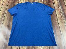 G-Star Raw Men's Blue V-Neck Short Sleeve T-Shirt - XL
