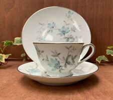 Noritake Lorene 5764 Delicate Floral Pattern Tea Trio, tea cup saucer and plate