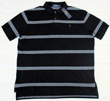 New Medium M POLO RALPH LAUREN Mens short sleeve rugby polo shirt black gray top
