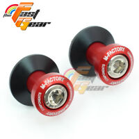 Billet Red CNC Racing Swingarm Spools for BMW S1000RR 2009-2015