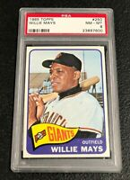 San Francisco Giants Willie Mays 1965 Topps #250 PSA 8 NM-Mint