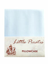 Brand New Baby Cot Bed Pillow Case 60 x 40 - 100% Luxury Cotton - Blue