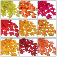 300 X Artificial Autumn Maple Leaves Mixed Colored Leaf Home Party Adorn DIY 8cm