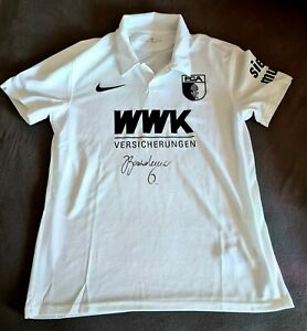 NEU - ORIGINAL NIKE HEIMTRIKOT FC AUGSBURG MIT AUTOGRAMM GOUWELEEUW